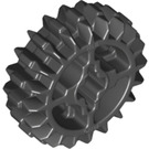 LEGO Black Gear with 20 Teeth and Double Bevel (Reinforced) (18575)