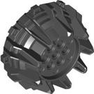 LEGO Black Giant Wheel with Pin Holes and Spokes (64712)