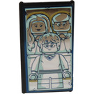 LEGO Black Glass for Window 1 x 4 x 6 with Mirrored Albus Dumbledore / Harry Potter with Parents Sticker