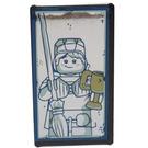 LEGO Black Glass for Window 1 x 4 x 6 with Quirinus Quirrell / Ron Weasley Pattern mirrored sticker