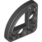 LEGO Black Half Beam 3 x 3 Bent 90 Degrees with Curve (32249)