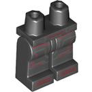 LEGO Black Iron Skull Minifigure Hips and Legs (25673)