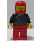 LEGO Black Jacket, Red Legs, Red Classic Helmet Minifigure