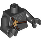 LEGO Black Kendo Cole Torso with Skull and Brown Leather Straps (76382 / 88585)