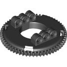 LEGO Black Large Turntable Top with Toothed Edge (18938)