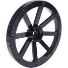 LEGO Black Large Wagon Wheel (34mm) with Notched Hole (4489)