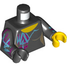 LEGO Black Lucy Wyldstyle Minifig Torso (76382)