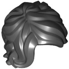 LEGO Black Minifig Hair Mid-Length Tousled with Side Parting (25409)
