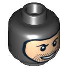 LEGO Black Minifig Head with Balaclava (Safety Stud) (13365 / 73433)