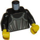LEGO Black Minifig Torso with Fright Knights Striped Armor