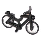 LEGO Black Minifigure Bicycle with Wheels and Tires (73537)