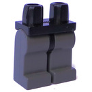 LEGO Black Minifigure Hips with Dark Gray Legs