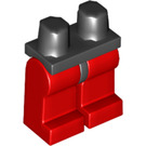 LEGO Black Minifigure Hips with Red Legs (73200 / 88584)