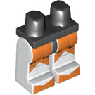 LEGO Black Minifigure Hips with White Legs with Star Wars Bomb Squad Trooper Large Orange Markings (94150)