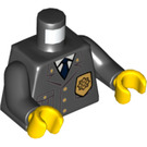 LEGO Black Minifigure Torso Buttoned-up Jacket with Sheriff's Badge (76382 / 88585)