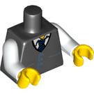 LEGO Black Minifigure Torso with Vest (76382 / 88585)