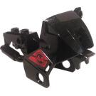 LEGO Black Motorcycle Fairing with Karai Number 44 Sticker