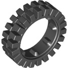 LEGO Black Narrow Tire 24 x 7 with Ridges Inside (3483)