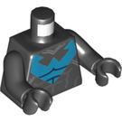 LEGO Black Nightwing Minifig Torso (76382)