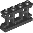 LEGO Black Oriental Fence 1 x 4 x 2 (32932)