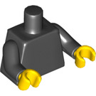 LEGO Black Plain Torso with Black Arms and Yellow Hands (76382)