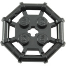 LEGO Black Plate 2 x 2 with Rod Frame Octagonal (Studs with Cut Edges) (30033)
