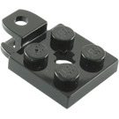 LEGO Black Plate 2 x 2 with Towball Socket (Flattened) (63082)