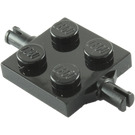 LEGO Black Plate 2 x 2 with Wheels Holder Double (4600 / 67687)