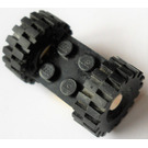 LEGO Black Plate 2 x 2 with White Wheels with Black Tires 4084