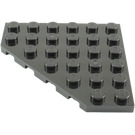 LEGO Black Plate 6 x 6 without Corner (6106)