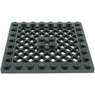 LEGO Black Plate 8 x 8 with Grille (No Hole in Center) (4151)
