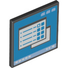 LEGO Black Roadsign Clip-on 2 x 2 Square with Computer Screen with Open 'O' Clip (73772)