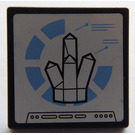 LEGO Black Roadsign Clip-on 2 x 2 Square with Rock 5 point on screen Sticker