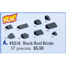 LEGO Black Roof Bricks Assorted Set 5216