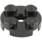 LEGO Black Round Plate 2 x 2 with Axle Hole (With '+' Axle Hole) (4032)