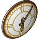 LEGO Black Shield Round and Rounded Front with Clock Face with Roman Numerals (34407)