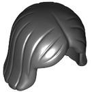 LEGO Black Shoulder Length Hair with Center Parting (4530 / 96859)