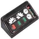LEGO Black Slope 1 x 2 (31°) with Speedometer  Sticker