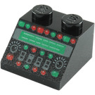 LEGO Black Slope 2 x 2 (45°) with Control Panel (86665)