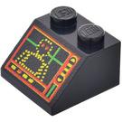 LEGO Black Slope 2 x 2 (45°) with Spyrius Robot Screen
