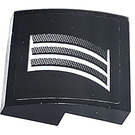 LEGO Black Slope 2 x 2 Curved with Air Vents from Black Camaro left side Sticker