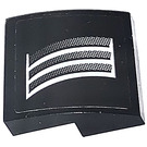 LEGO Black Slope 2 x 2 Curved with Air Vents from Black Camaro right side Sticker