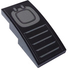 LEGO Black Slope 2 x 4 Curved with Vents and Hatch Sticker