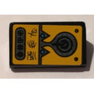 LEGO Black Slope 31° 1 x 2 with Alien Characters, Control Panel Sticker