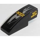 LEGO Black Slope Curved 3 x 1 with '55', 'SUPER FAST', 'ERAV' Model Left Side Sticker from Set 8126