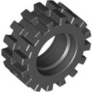 LEGO Black Small Tire Ø15 X 6mm with Offset Tread (without Band Around Center of Tread) (3641)