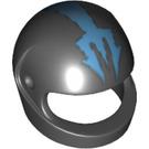 LEGO Black Standard Helmet with Aquaraiders Blue Trident (58464)