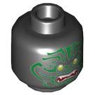 LEGO Black Stone Army Plain Head (Recessed Solid Stud) (43840)