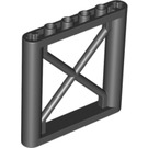LEGO Black Support 1 x 6 x 5 Girder Rectangular (64448)