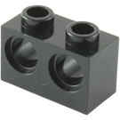 LEGO Black Technic Brick 1 x 2 with 2 Holes (32000)